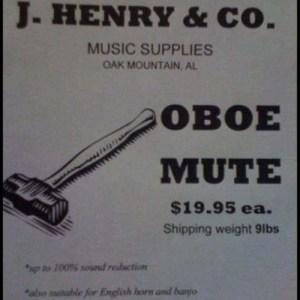 oboe mute