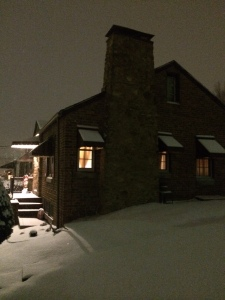 Snowy night in WV 1