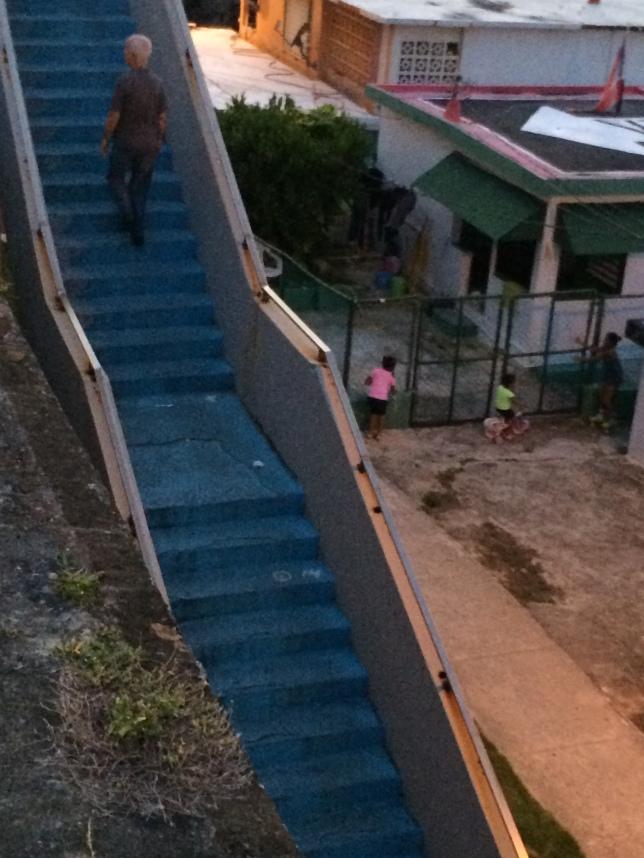 Carmelo Anthony staircase, La Perla, San Juan