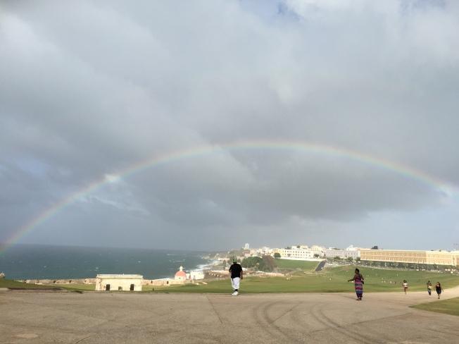 Castillo San Felipe del Murro, half-circle rainbow (2)