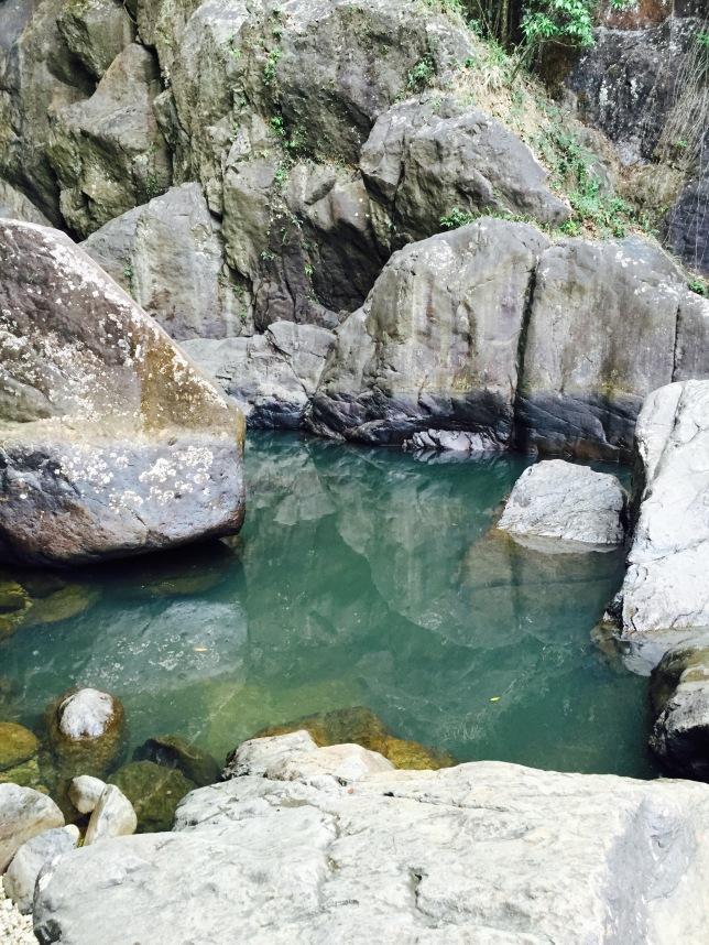Pool on Río Espíritu Santo from the side