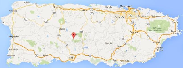 Cerro de Punta location