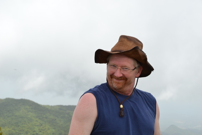 Silliness atop Cerro la Punta