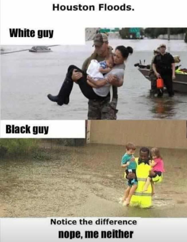 White and black rescuers
