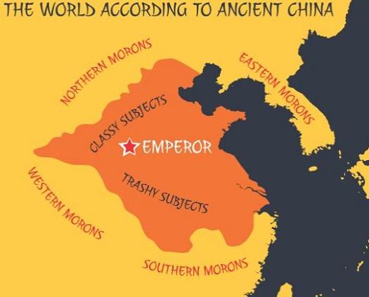 World according to ancient china