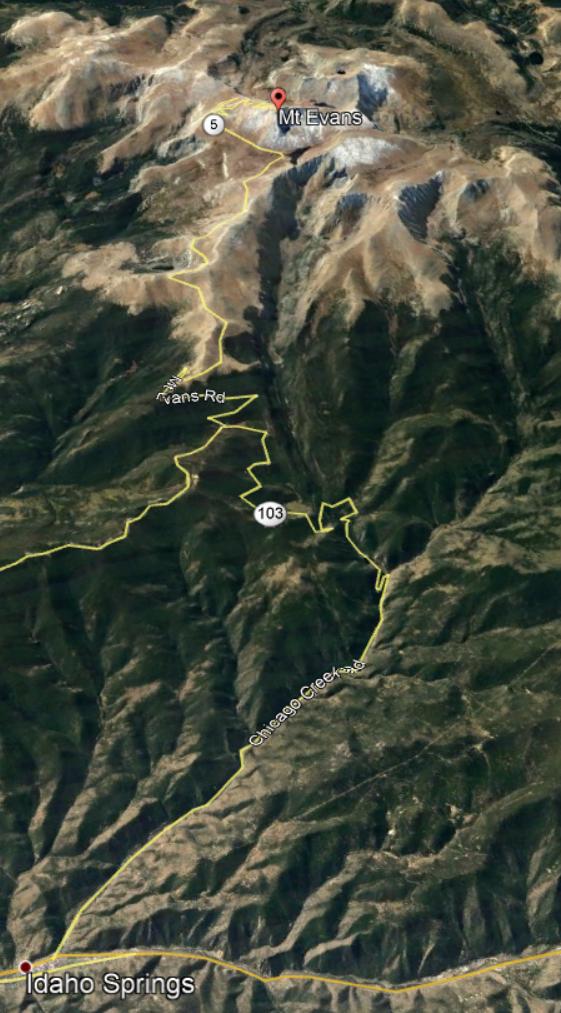Idaho Springs to Mount Evans