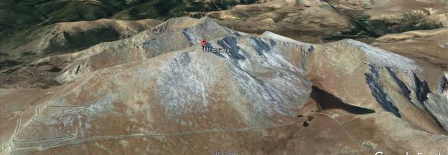 Mount Evans, Mount Spalding, and Summit Lake