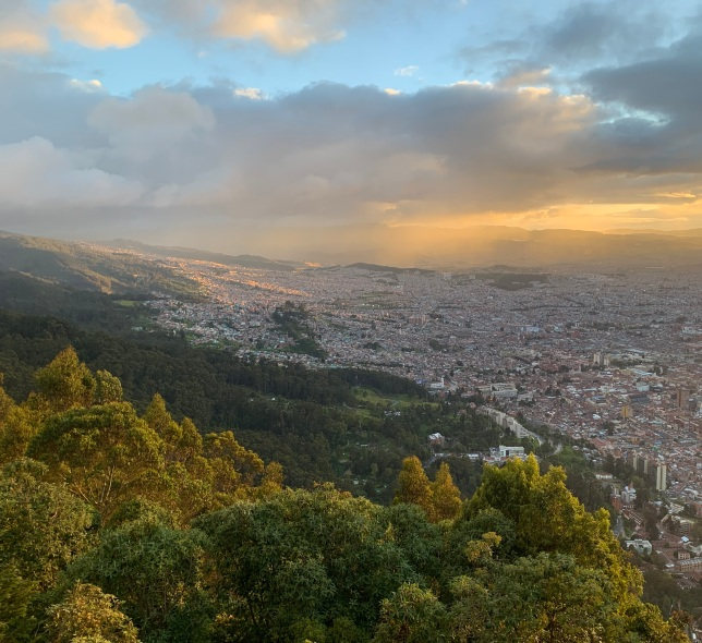 Southeastern Bogotá at sunset
